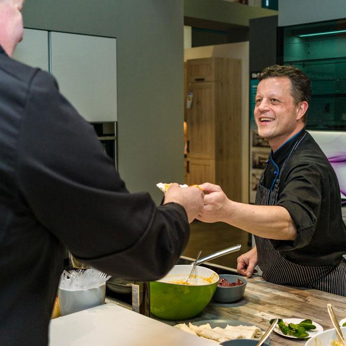 Show-Cooking vor Ort